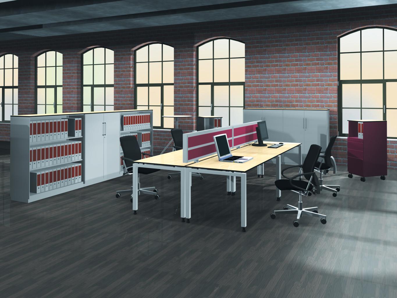 3D barvni pogled pisarne